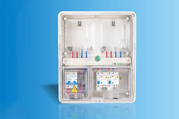 CHS-K201E  单相二表位电能计量箱