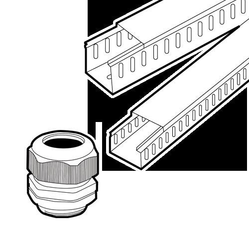 电缆固定头 配线槽